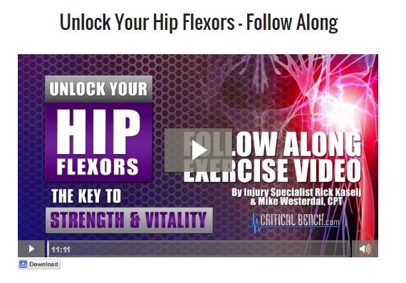 unlock hip flexors follow on video